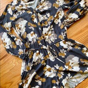 Long sleeved floral romper